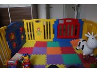 Plastic Baby Playpen 8 Sides with Activity Panel
