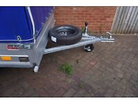 New car box trailer twin axle 750kg