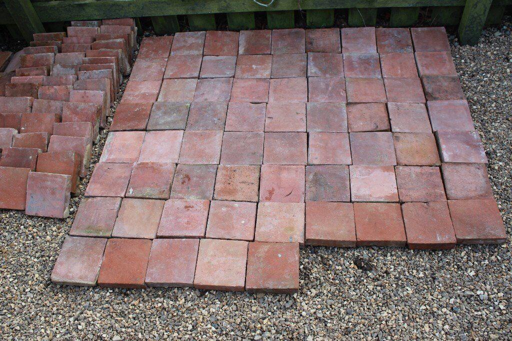 Authentic Period Clay Terracotta Floor Tiles 100 In Total 6x6x1