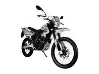 NEW MOTORINI SXR ENDURO, 125CC MOTORCYCLE, £11.17 PER WEEK