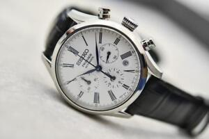 NEW Seiko Presage Enamel Automatic Chronograph SRQ023 MADE IN JAPAN 3 YEAR WARRANTY