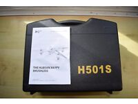 HUBSAN H501S GPS DRONE/QUAD RTF IN CASE AND 3 BTYS
