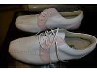 Ladies Footjoy golf shoes. Size 6, leather, waterproof. Unused