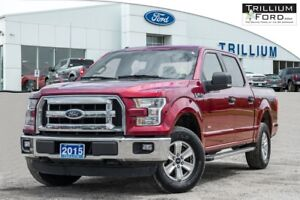 2015 Ford F-150 SUPERCREW 2.7L ENGINE 301A PACKAGE CHROME STEPS