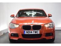 BMW 1 SERIES 2.0 120D M SPORT 5d 181 BHP (orange) 2014