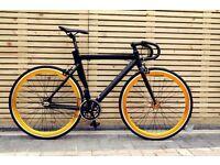 GOKU CYCLES!!! Aluminium Alloy Frame Single speed road track bike fixed gear racing fixie bicycle c