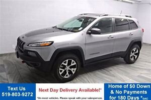 2016 Jeep Cherokee 4WD LEATHER! NAVIGATION! PANO ROOF! HEATED ST