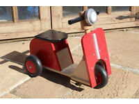 Mothercare/Early Learning Centre sit on 3 wheeled wooden trike very suitable for 2 to 4 year olds