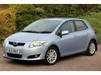 *Beautiful*2007 Toyota Auris 1.4 VVT-i T3 5dr, Met. Blue*12 Months Warranty*Tel.07770099433*