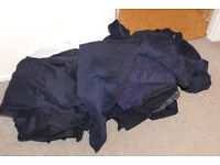 10 heavy duty blue army overalls for repair - mostly a split somewhere