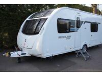 Sterling Eccles Sport 564 SR 2013 4 Berth Fixed Single Beds Caravan + Motor Movers