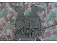 Vintage French Military Canvas Assault Vest