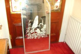 3 LARGE ETCHED MIRRORS