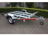 NEW Motorcycle Motorbike Trailer Tema Moto 3 Three x Channel Galvanised Steel 750kg