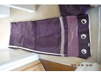 Purple very long curtains perfect condition