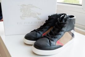 Burberry womens high tops, size 2