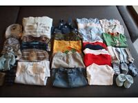 Baby boy 3-6 months winter clothes bundle, includes Next, M&S & Mothercare.