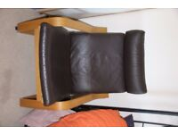 Ikea Poang Chair Leather brown