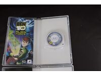 BEN 10 PSP GAMES PROTECTOR OF EARTH AND ALIEN FORCE BOXED