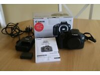 Canon 1300D SLR Camera (Body only) in good working order and as new condition with very little use
