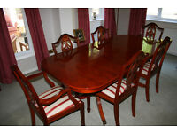 Woodstock yew reproduction dining suite