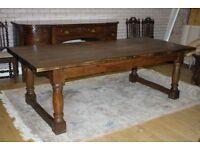 8ft antique oak refectory table