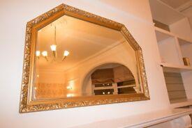 Antique Vintage Gold Fireplace Mantel Mirror 98 x 67cm (WxH)