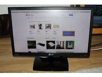 LG FLATRON IPS 23 INCH LED MONITOR, HDMI, DVI, VGA