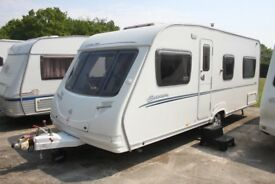 Sterling Europa 495 2007 4 Berth Fixed Bed Caravan + Motor movers + Full Awning