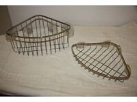 Stainless Steel Corner Shower Baskets