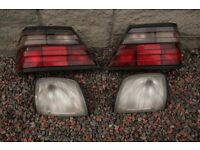 Mercedes Benz W124 genuine front indicator & tail Lamps used