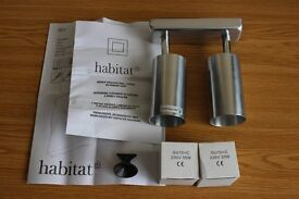 Spotlights. Habitat Lighting. Bey Lighting. Double Metal Spotlights.