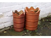 Small chimney pot style planters