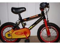 Apollo Force child's bike 14 inch wheel with stabilisers