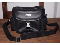 FOR SALE: Antler Black Leather Camera Shoulder Bag - £20