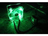 Corsair H60 AIO CPU Liquid Water Cooler w/Green LED 120mm Fans Intel Only