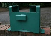 "Garden Tractor Security Clamp - max. front wheel size 12"" x 6"""