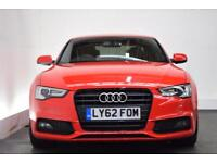 AUDI A5 1.8 TFSI S LINE BLACK EDITION 2d AUTO 168 BHP (red) 2013