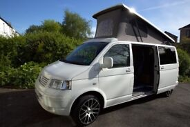 VW T5 LWB Campervan, low mileage and ingeniously converted, ideal for five passengers