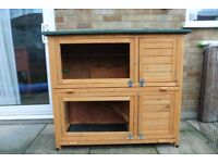 Rabbit Hutch - 4ft long, 2 tiered and with cover.