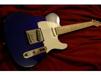 FENDER TELECASTER MIDNIGHT BLUE electric guitar squier great player maple neck