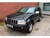 05 JEEP GRAND CHEROKEE 3.0 CRD LTD 4x4 ++ FULL HEATED LEATHER & LONG MOT ++