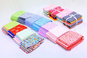 FAT-QUARTER-100-COTTON-SEWING-PATCHWORK-QUILTING-CRAFT-GIFT-MIXED-FABRIC-BUNDLE