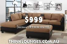 Brand New Quality Chaise Lounge Sofa Set with Ottoman & Pillows Labrador Gold Coast City Preview