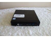 Nearly New MASSIVE 32GB RAM HP EliteDesk Mini Desktop i7 6th Gen 256GB SSD Win 10 Warranty