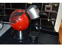 Dolce Gusto red coffe machine