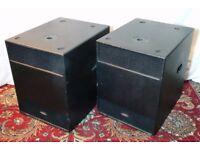 Pair of KAM Vortex 15B 15inch Subwoofer 2000W Passive Bass Speakers