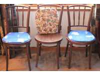 3 Modern bentwood style chairs