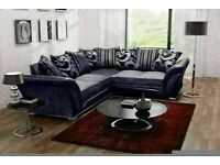 🔵💖🔴SUPER QUALITY 🔵💖🔴SHANNON SOFA- NEW FABRIC & FAUX LEATHER SHANNON CORNER/3 2 SEATER