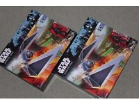 """2 x Star Wars Rogue One TIE STRIKER VEHICLES / SHIPS + 3.75"""" Imperial Tie Fighter Pilot Figures NEW"""